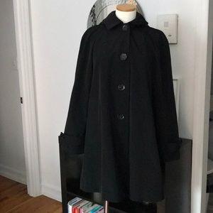 Calvin Klein Black Bell Rain Coat